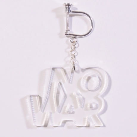 """NO WAR"" earring or pierce"
