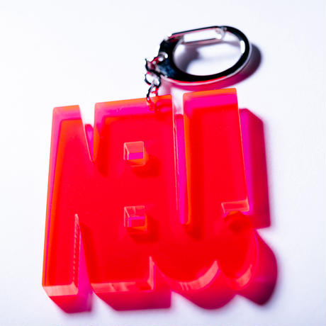 """NEU!"" key ring(蛍光ウルトラレッド)"