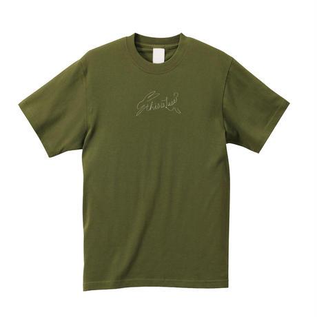 ウサギロゴTシャツ [Khaki]