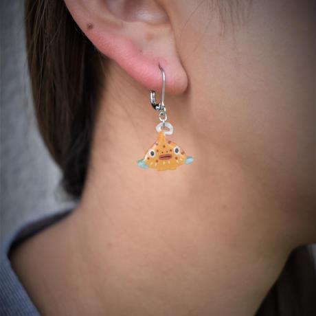 黄だんごうおのピアス(イヤリング)片耳