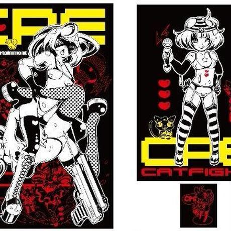 【再入荷】CPEキャットファイトアニメTシャツ