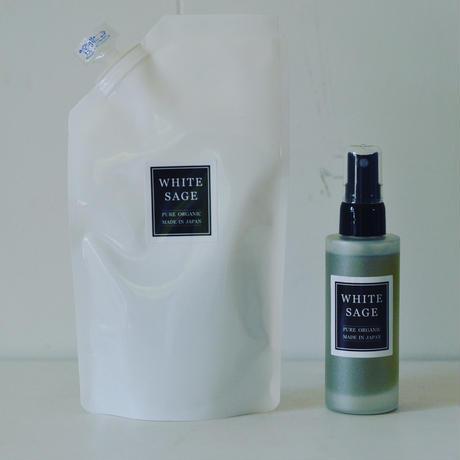 自然栽培ホワイトセージ ピュアアロマスプレー(浄化スプレー) 50mlと詰め替え用120mlセット