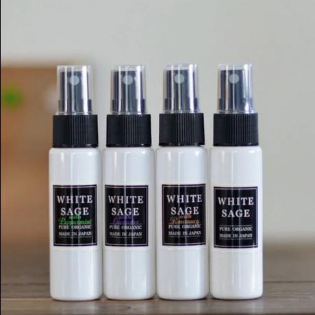 【オーガニック100%】 国産ホワイトセージ オーガニックアロマスプレー 30ml×2本セット  各8種