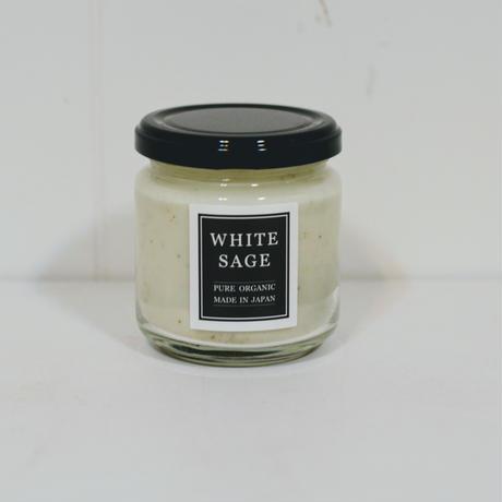 自然栽培ホワイトセージ オーガニック  ソイキャンドル