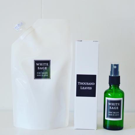 自然栽培ホワイトセージ アロマスプレー(浄化スプレー)50mlと詰め替え用250mlセット