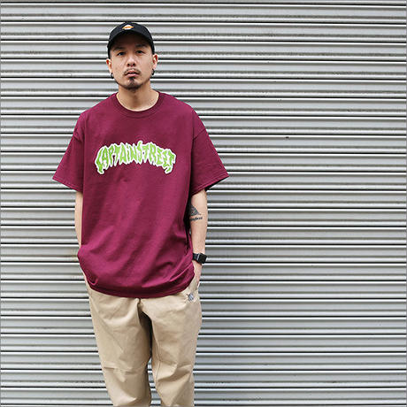【CAPTAIN STREET】 PRDT II Tシャツ BURGUNDY
