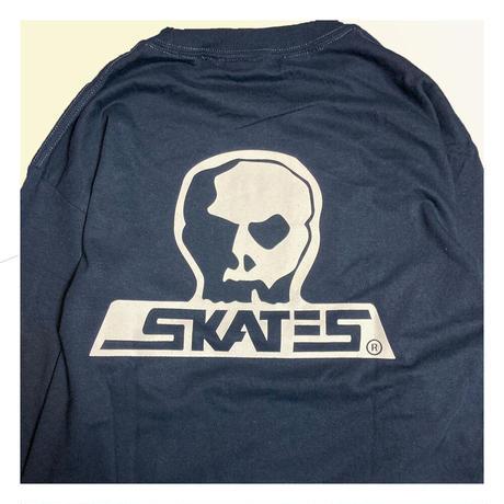 【SKULL SKATES】SKULL SKATES  ロゴ  ネイビー MOONSET ロングスリーブ