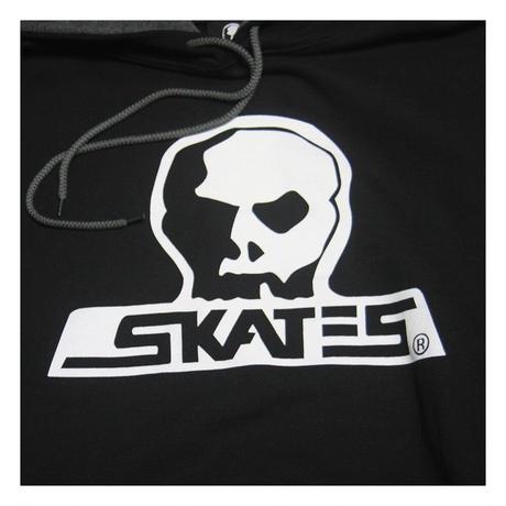 【SKULL SKATES】 コントラスト ラインド フードスウェット(ブラック)