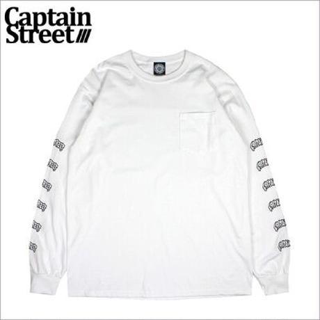 【CAPTAIN STREET】CAPTAIN STREET SiX PRDT II ポケットL/S Tシャツ WHITE