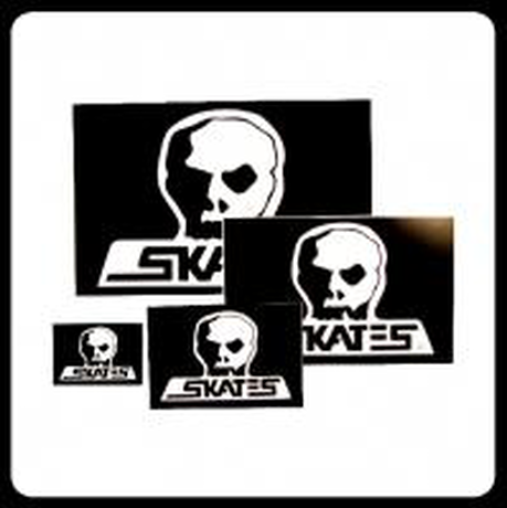【SKULL SKATES】OGロゴステッカー Mサイズ