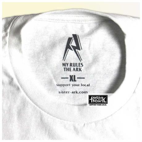 【ARK】ミスターARKLOGO  ロングスリーブ Whiteボディー  XLサイズのみ