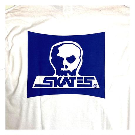 【SKULL SKATES】SKULL SKATES  WHITE MOONSET(ホワイトxブルー) 限定カラー ロングスリーブ