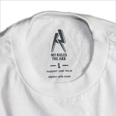 "【ARK】ARK ""local logo""  Tシャツ Whiteボディー"