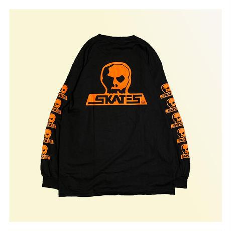 【SKULL SKATES】SKULL SKATES BLACK SUNSET(ブラックxオレンジ) 限定カラー ロングスリーブ