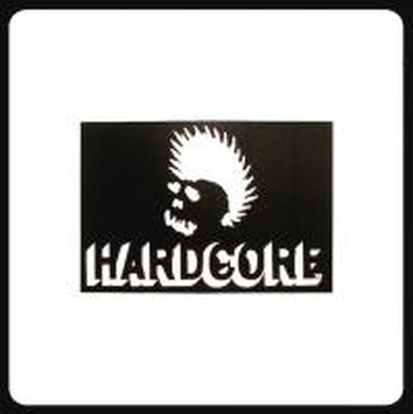 【SKULL SKATES】HARD COREロゴ ステッカー Mサイズ