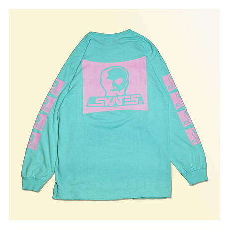 【SKULL SKATES】Sharkra(セラドンxピンク)限定カラー ロングスリーブ
