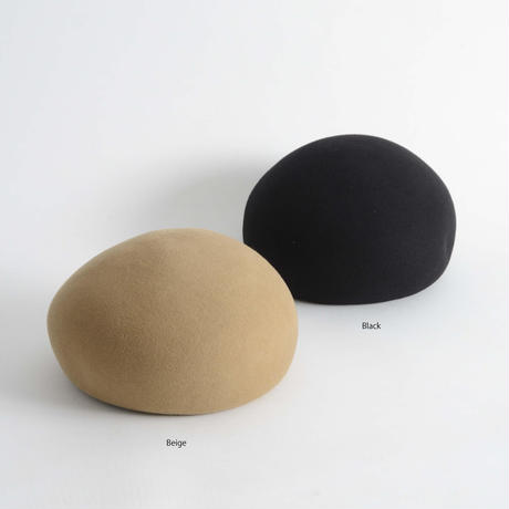 mature ha. / Japanese old wooden block beret MFEL-1106