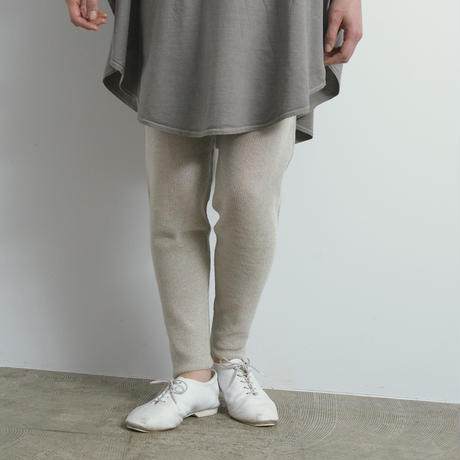 COSMIC WONDER / Silk linen wholegarment knit pants