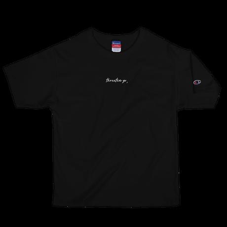 THREETEAGO×Champion Tシャツ(刺繍ロゴ)