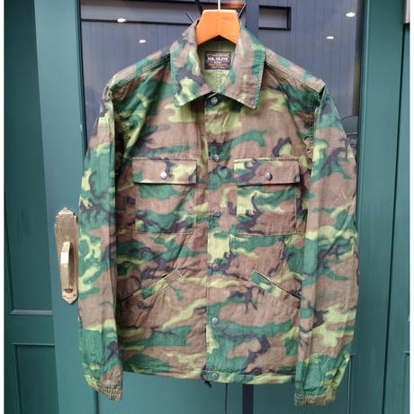 【MR.OLIVE】 CAMOUFLAGE RIP-STOP CLOTH / ONE WASH COACH JACKET (M-6314)