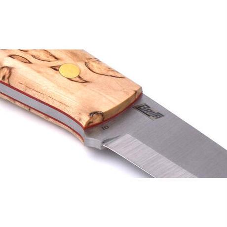 BRISA/ブリサ アウトドアナイフ ELVER 85 カーリーバーチ