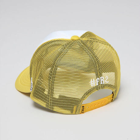 "【FR2xマスクヘッズ®】""Smoking kills"" Mask Heads Cap/YELLOWxWHITE[FRA187]"