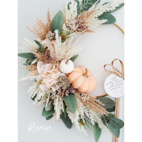 Hallo Fall2020'  Pumpkin Wreath【レッスンキット】★★☆