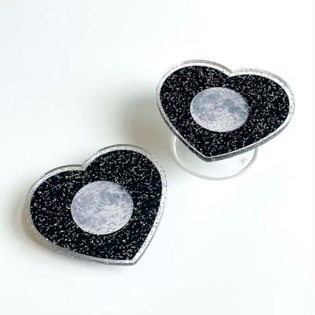 [mingkit]moon heart pearl acrylic mingtok