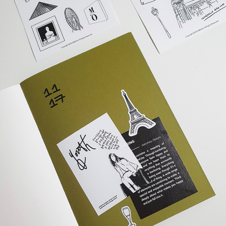 [BONBEING]bon city pari drawing sticker