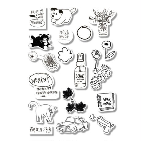 [Jeongo-innerside]mini drawing sticker pack 03