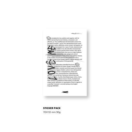 [Jeongo-innerside]typo & drawing sticker pack
