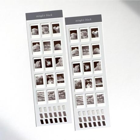 [mingkit]black instant photograph seal sticker