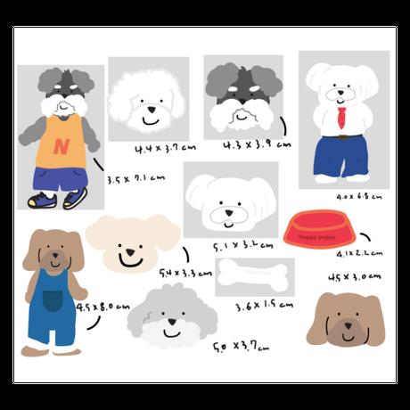 [PureNanaCampany]happy puppy home sticker