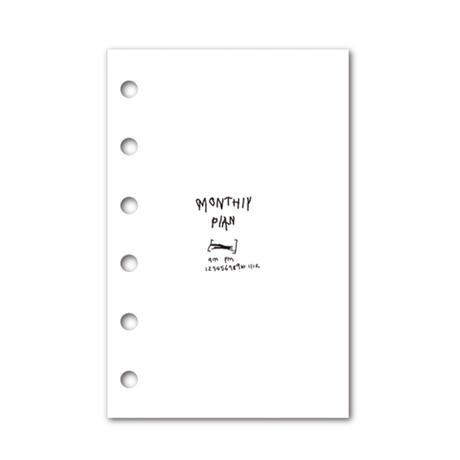 [Jeongo-innerside]pocketnotebook monthly refill