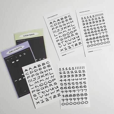 [BONBEING]HW alphabet sticker
