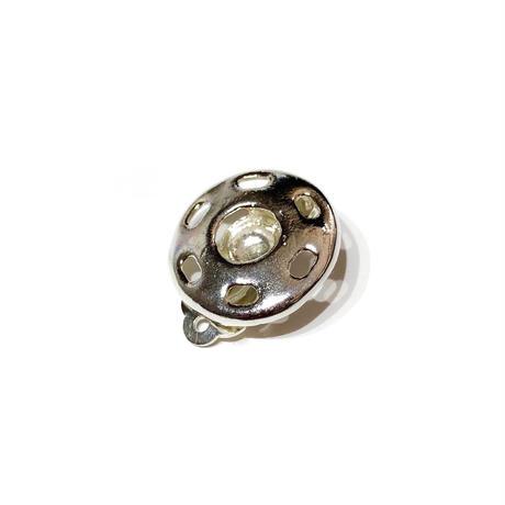 スナップボタン(M)イヤークリップ /シルバー