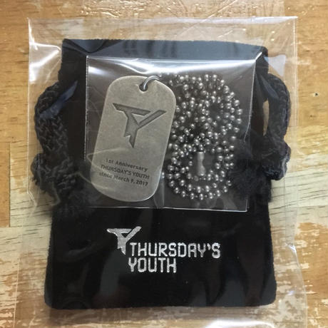 THURSDAY'S YOUTH 1st Anniversary dog tag necklace