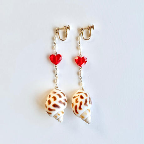 Crystal  Heart_Red イヤリング・ピアス