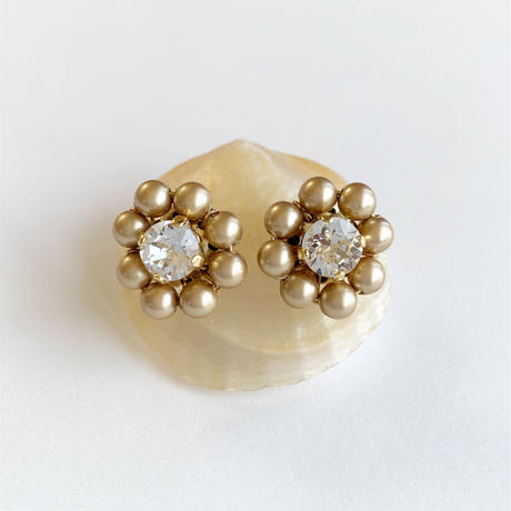 Crystal Flowers mini ピアス