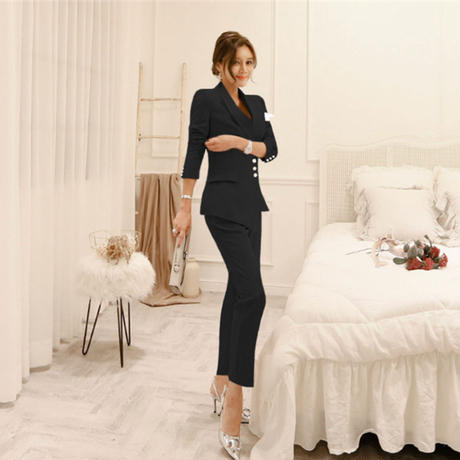 Single-breasted Slim Two Pieces Suits 30