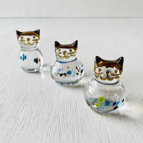 茶猫ハンコ(お花②)