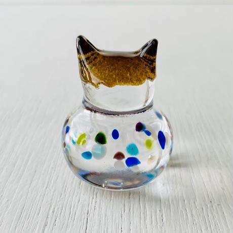 茶猫ハンコ(お花①)