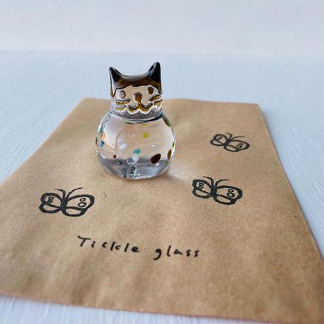 茶猫ハンコ(蝶々②)
