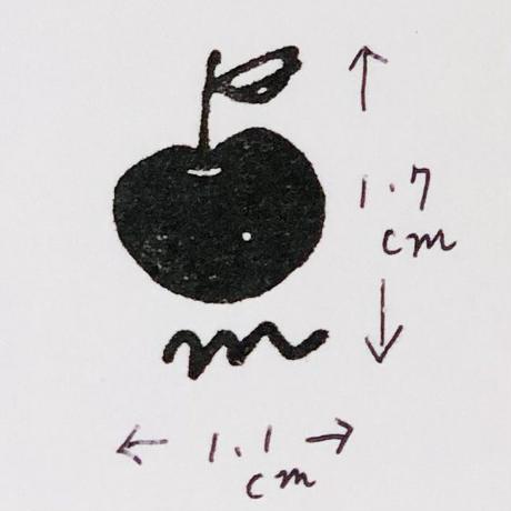mamaハンコ(リンゴ・黄色)