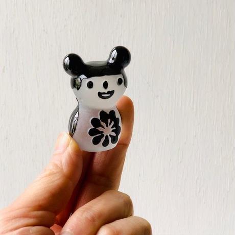 ミニハンコ(黒クマちゃん・ちょうちょ模様)