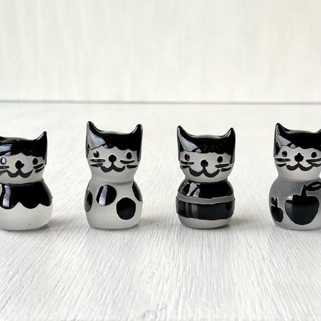 黒猫ハンコ(りんご)