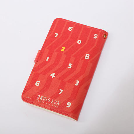 EVANGELION Android Diary Case (textile design by SOU・SOU) 弐号機