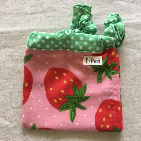 ふんどしパンツF☆Pan【Mサイズ】 ダブルガーゼ<ピンクイチゴ柄>