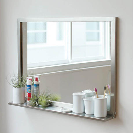 STAINLESS STEEL FRAME MIRROR WITH BRACKET