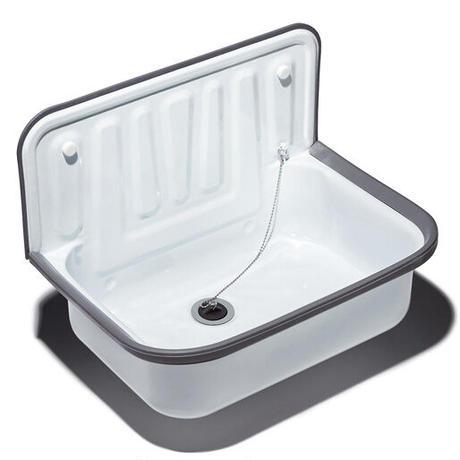 Quantex Utility sink - White enameled